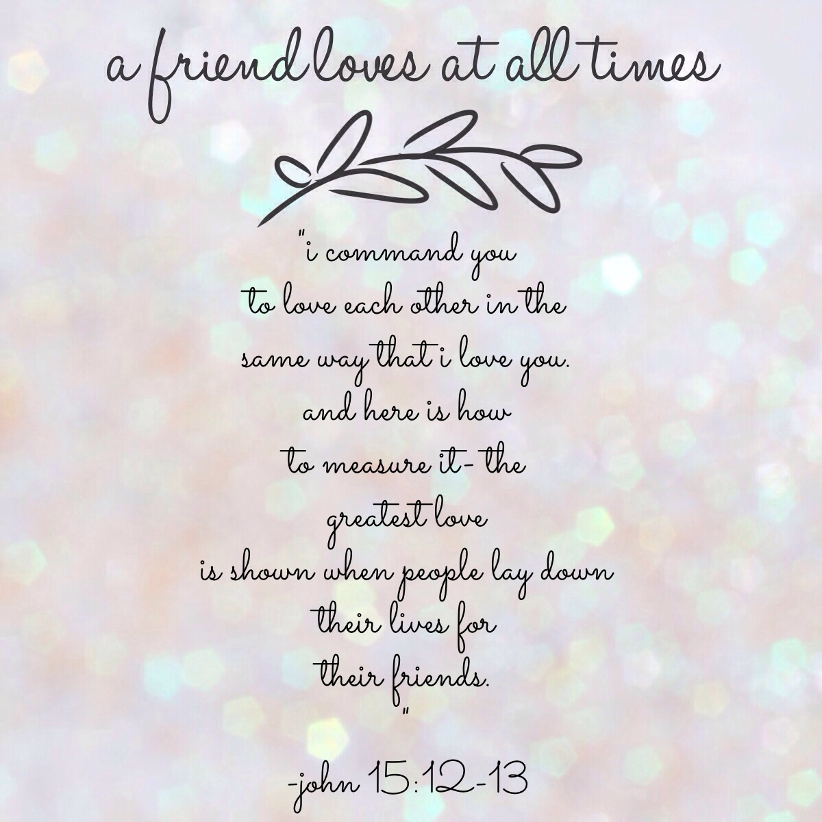 Bible Verses Involving Friendship : A friend loves at all times the art of domesticity